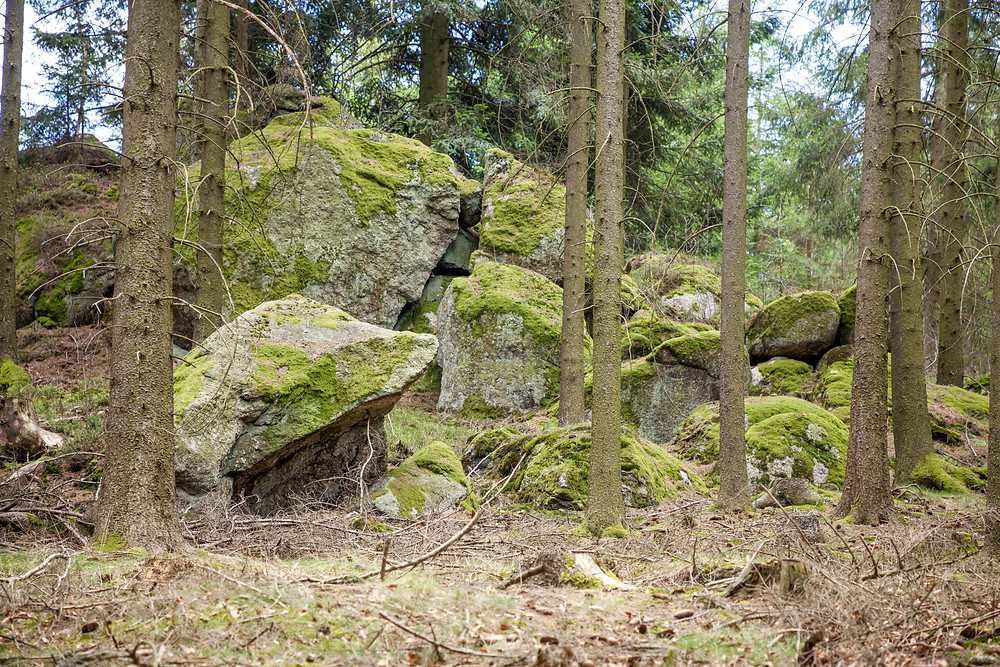 Wackelsteine, Granit, Felsen, Waldviertel, Niederösterreich