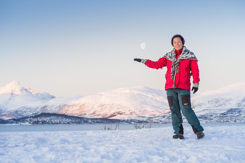 Kleidung für arktische Temperaturen in Tromsö im Winter