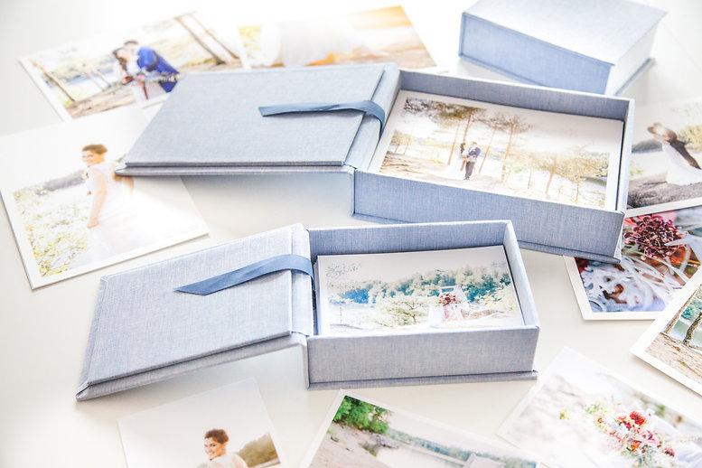 Fotoboxen, Fotoaufbewahrung, Photo Box mit Leinenübezug