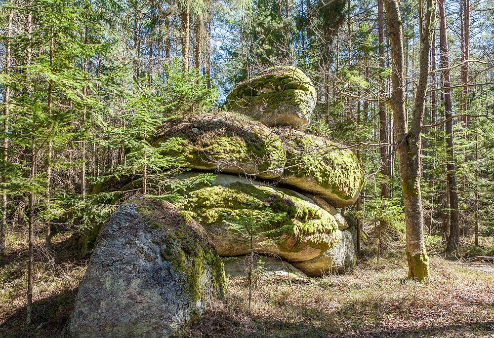 Granit, Felsformation, Felsen, Waldviertel, Lohnbachfall, Niederösterreich, Wandern, Wanderung