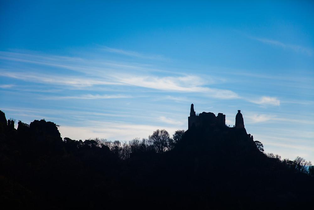 Ruine Dürnstein, Wachau, Niederösterreich, Dürnstein, Richard Löwenherz, Blondel, Donau, Silhouette, Ruine, Sage