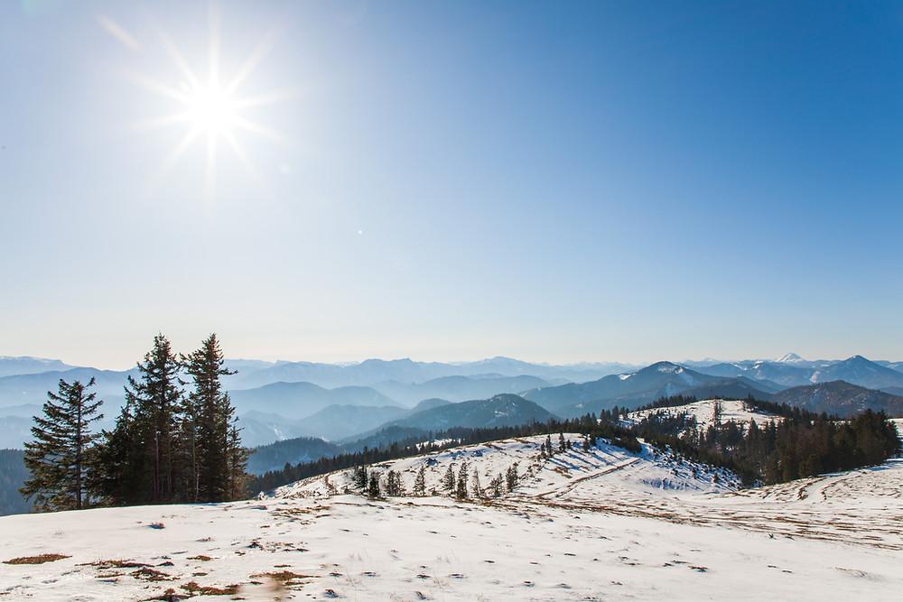 Unterberg, Voralpen, Niederösterreich, Mostviertel, Wandern, Wanderung, Winter, Schnee, Spätwinter, Wintersonne, Alm, Weide, Bergerlebnis