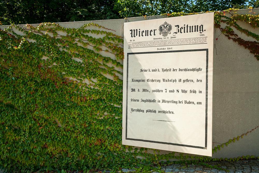 Mayerling, Karmel Mayerling, Jagdschloss Mayerling, Tragödie Mayerling, Kronprinz Rudolf, Mary Vetsera, Kaiserin Elisabeth, Kaiser Franz Josef, Wienerwald, Ausflug, Niederösterreich Card, Kloster, Karmelitinnen, Wiener Zeitung