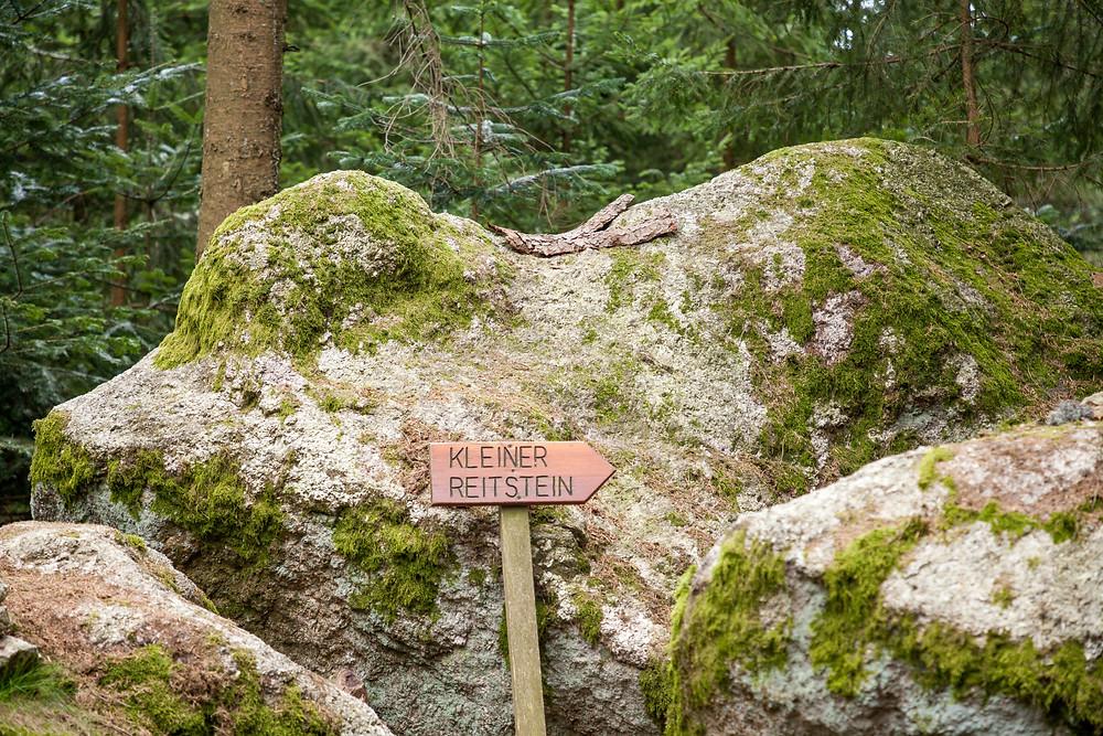 Kleiner Reiterstein, Wackelstein, Granit, Felsformation, Waldviertel, Niederösterreich; St. Oswald