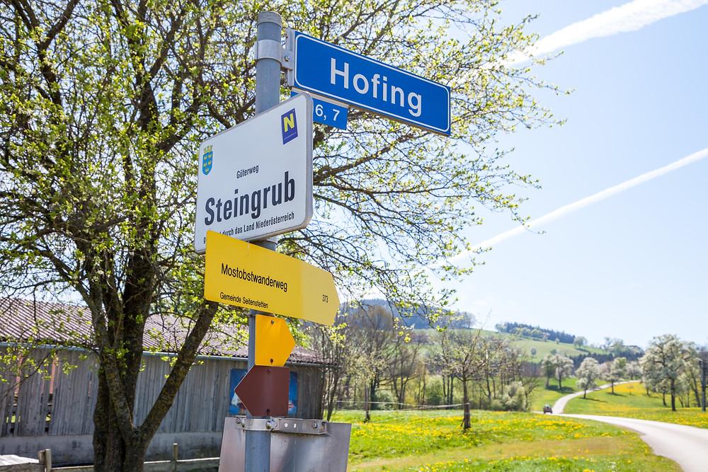 Wandermarkierung, Wanderweg, Mostobstwanderweg, Seitenstetten, Mostviertel, Niederösterreich, Wandern, Wandertipp, Ausflug
