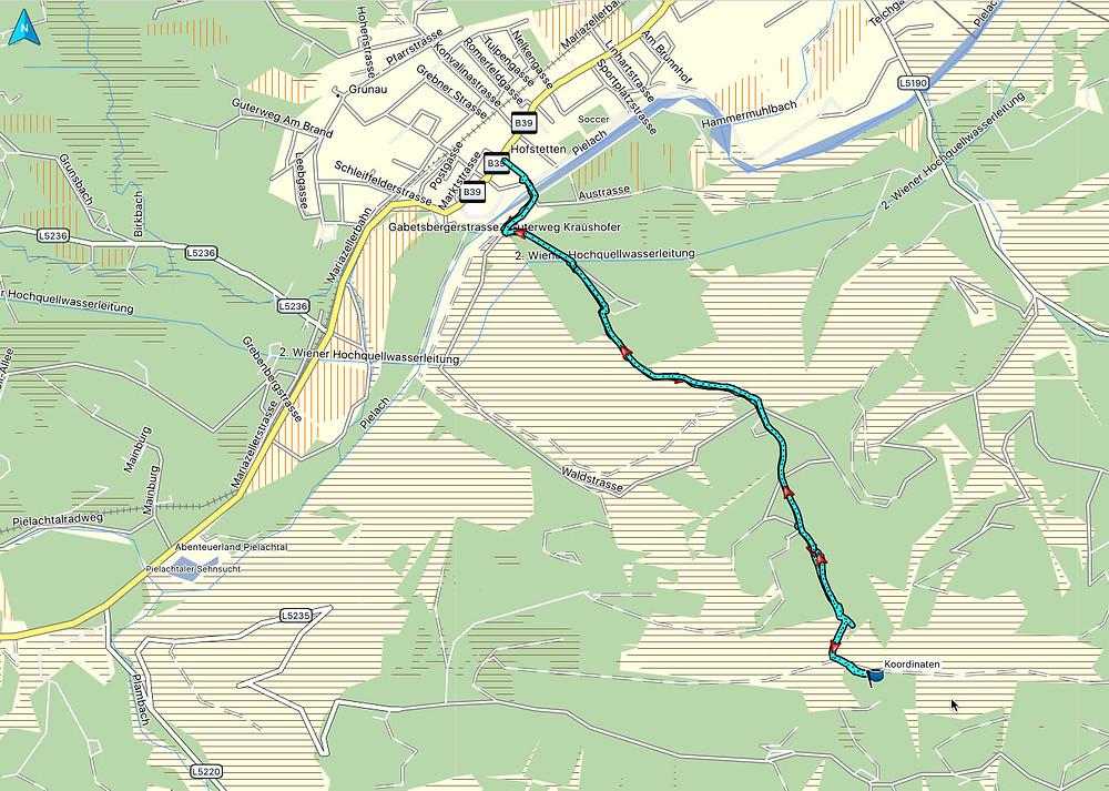 Track vom Weg zum Bankerl im Mostviertel bei Hofstetten-Grünau