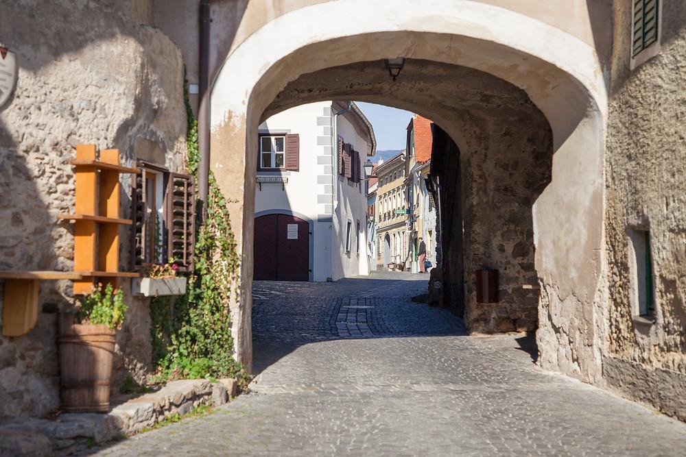 Stadttor, Dürnstein, Richard Löwenherz, Blondel, Niederösterreich, Wandern, Donau, Welterbesteig