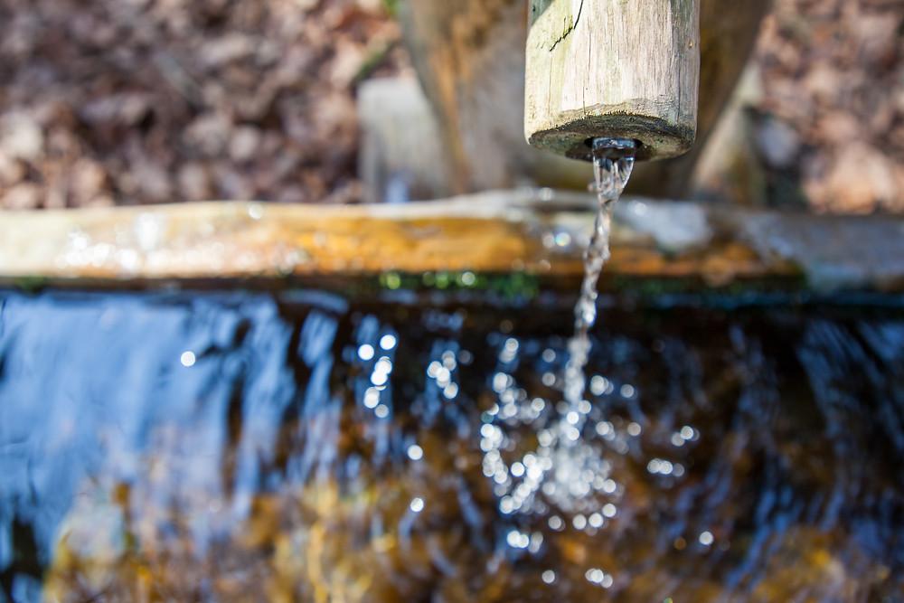 Brunnen, Wasser, Plätschern, Wassertropfen, Wandern, Wanderung, Waldviertel, Niederösterreich, Peilstein