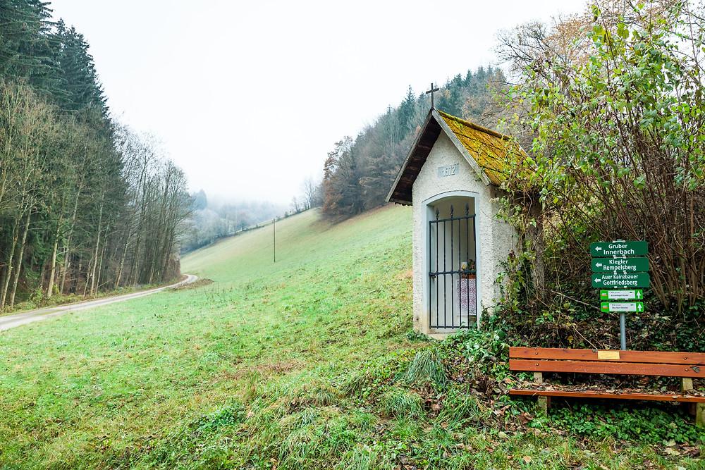 Kaiserkogel, Eschenau, Pielachtal, Traisental, Alpenvorland, Niederösterreich, Wandern, Wanderung, Winterwandern, Winterwanderung, Marterl