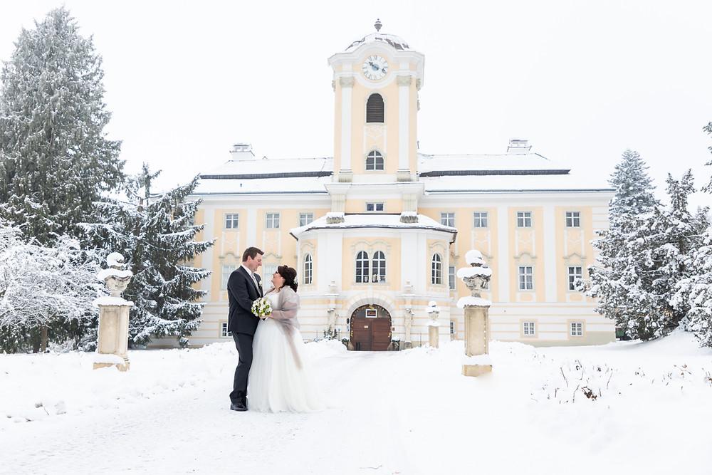 Schloss Rosenau im Waldviertel ist perfekt für eine Winterhochzeit