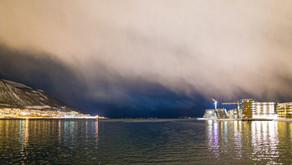 Norwegen: Tromsö - oft im Schneesturm? Ja, aber kurz!