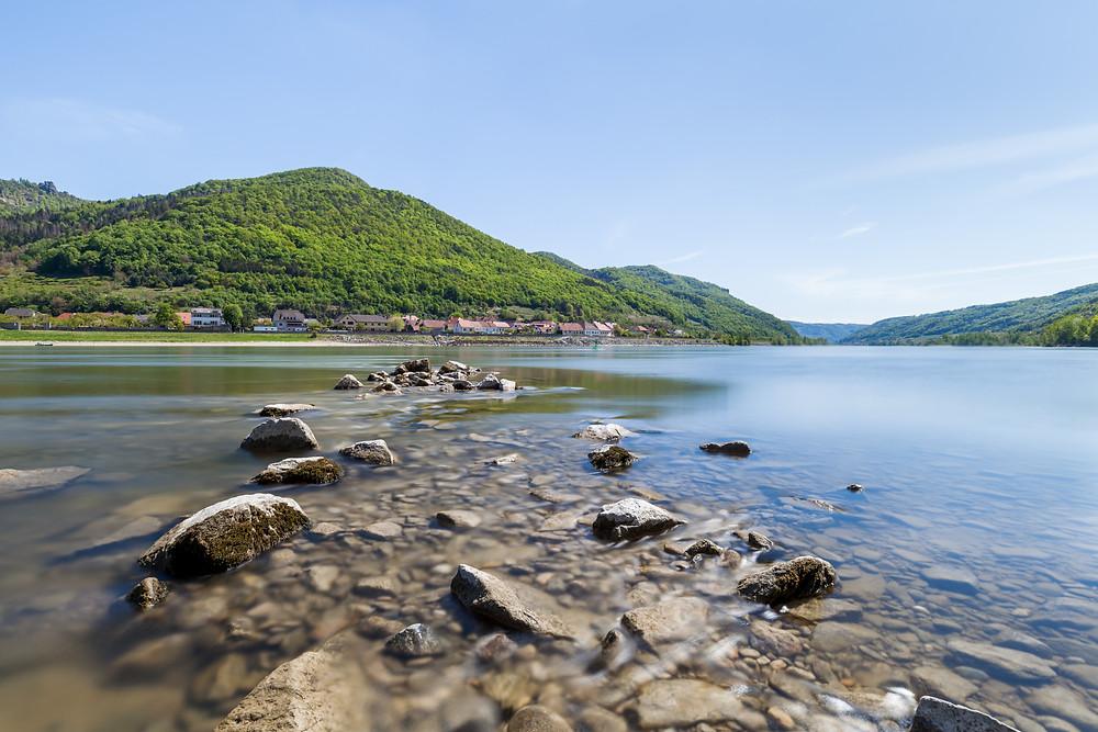 Donau, Wachau, Wachautal, Strom, Fluss, Niederösterreich, Ausflug, Wandern, Wandertipp, Langzeitbelichtung