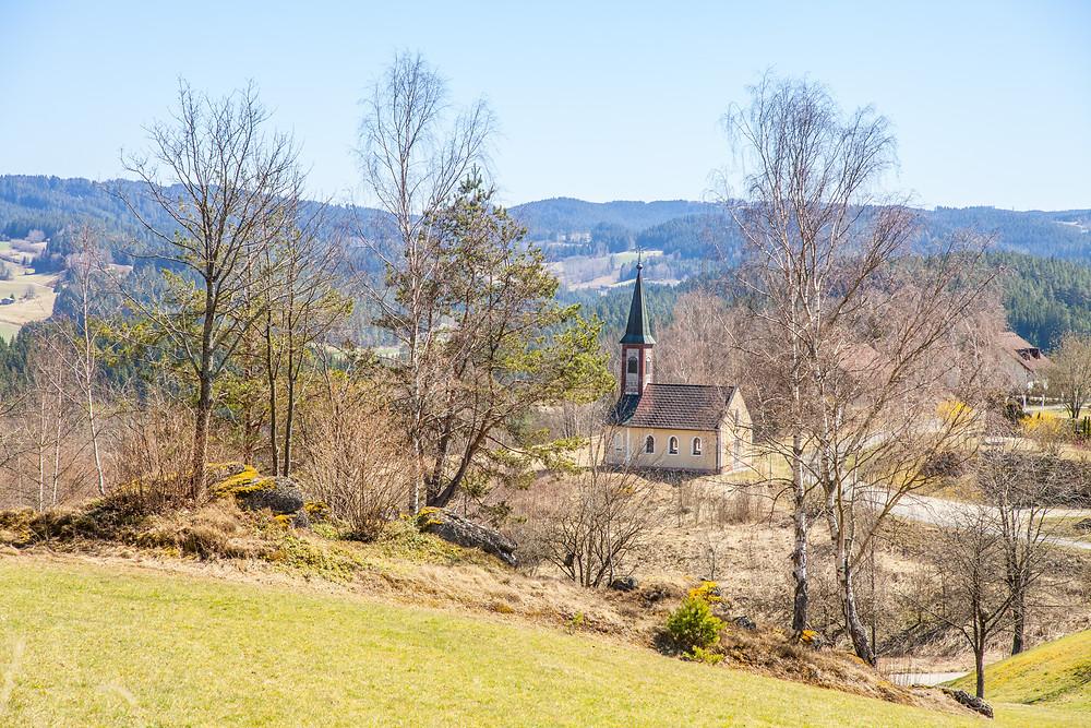 Kirche, Kapelle, Lohn, Lohnbachfall, Waldviertel, Niederösterreich, Wandern, Wanderung