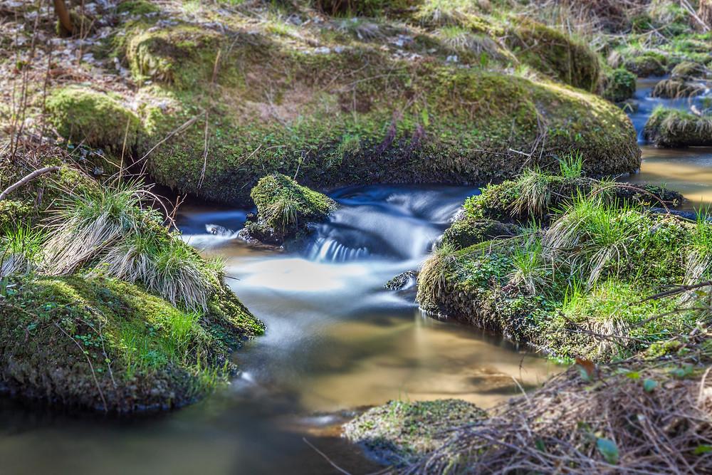 Lohnbachfall, Wasserfall, Bachlauf, Au, Lohnbach, Waldviertel, Niederösterreich, Wandern, Wanderung