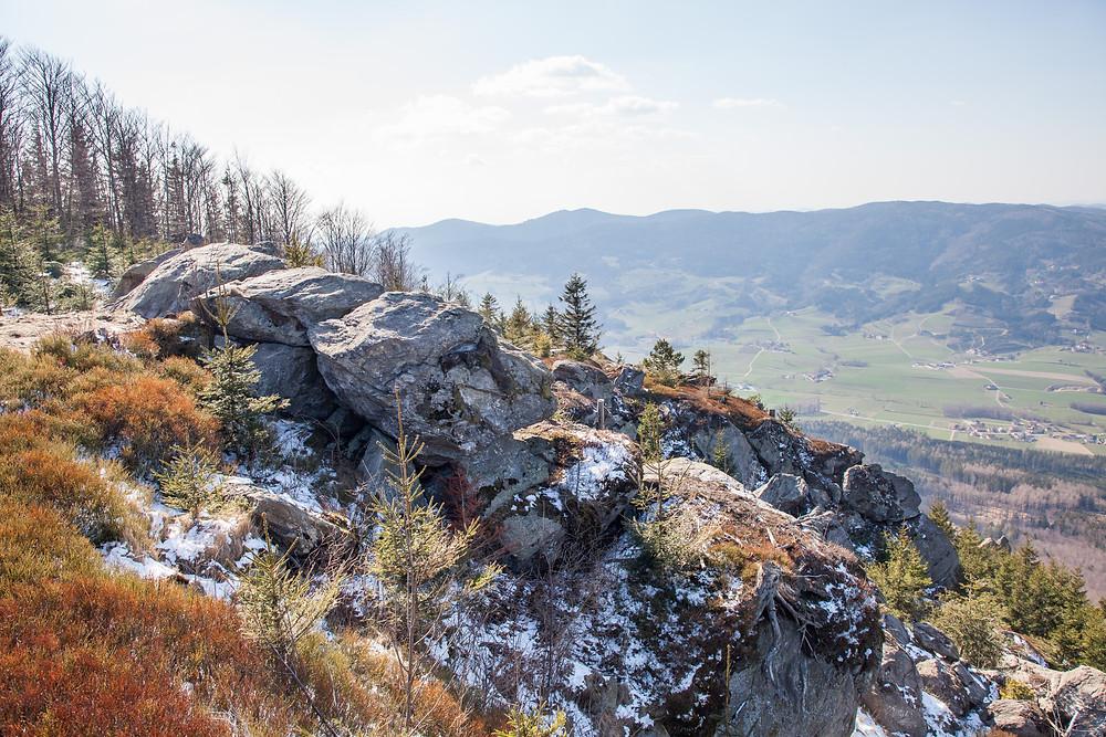 Peilstein, Yspertal, Waldviertel, Niederösterreich, Wandern, Wanderung, Ausblick Aussichtspunkt
