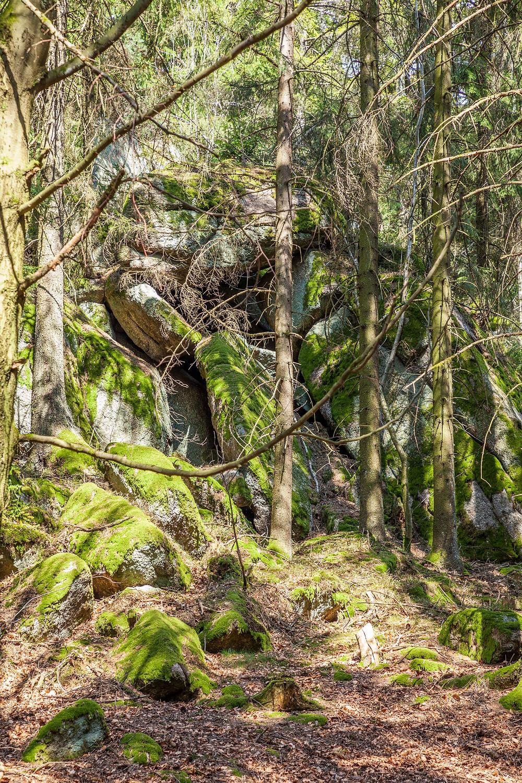 Granit, Felsen, Steinformation, Waldviertel, Niederösterreich, Wandern, Wanderung