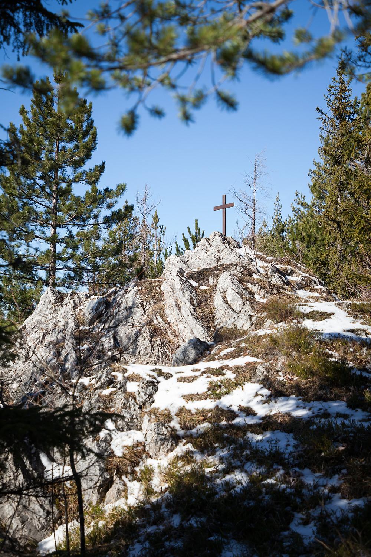 Kreuz, Steinkamp, Steig, Unterberg, Gipfelkreuz, Wandern, Wanderungen, Niederösterreich, Voralpen