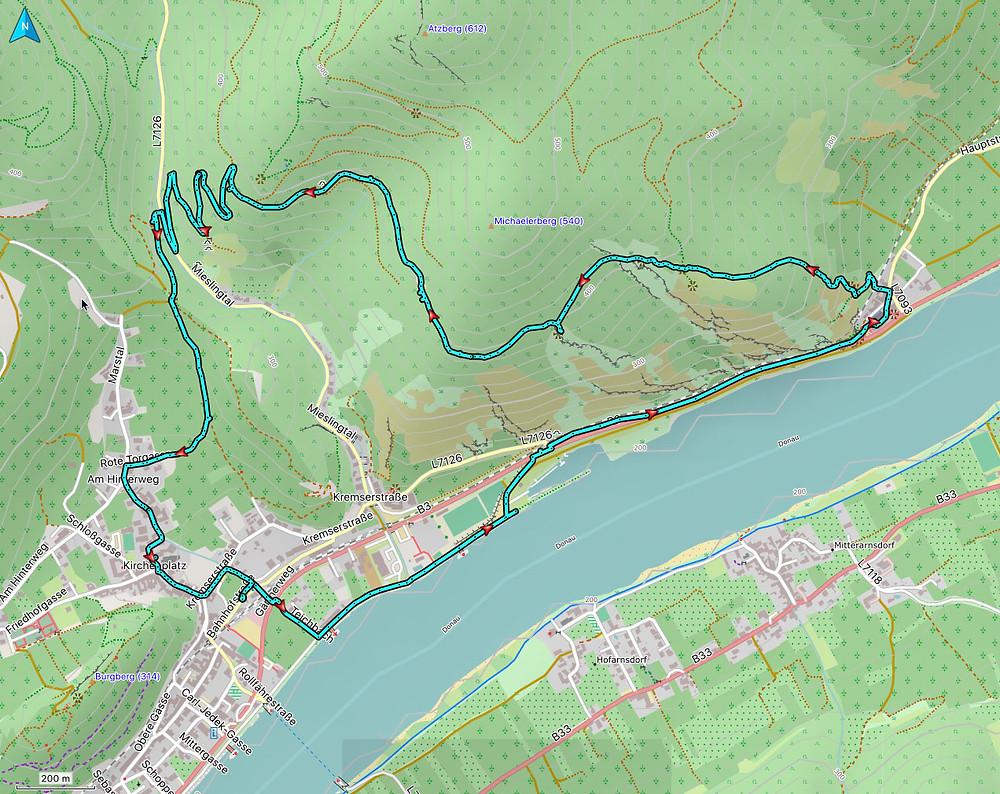 Höhenweg Spitz an der Donau nach St. Michael