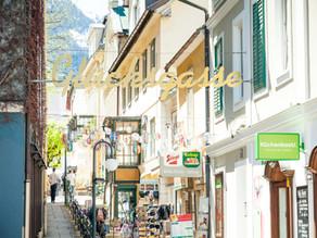 Salzkammergut Bad Ischl - Sehenswürdigkeit Taschenuhr mit Glockenspiel und Glücksgasse