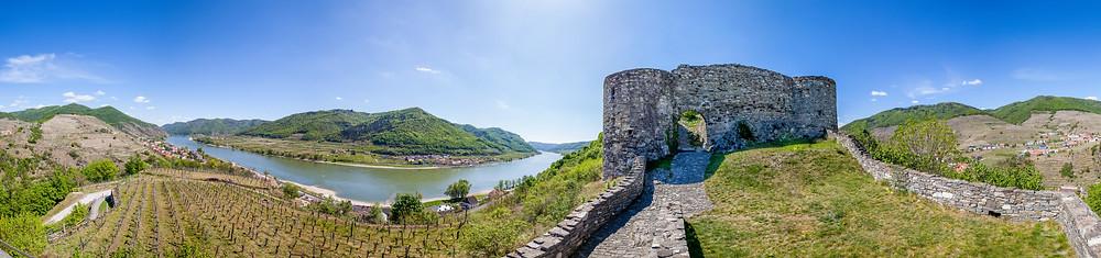 Panorama, Ruine Hinterhaus, Spitz an der Donau, Wachau, Niederösterreich, Ruine, Burg, Wandern, Ausflug, Wandertipp