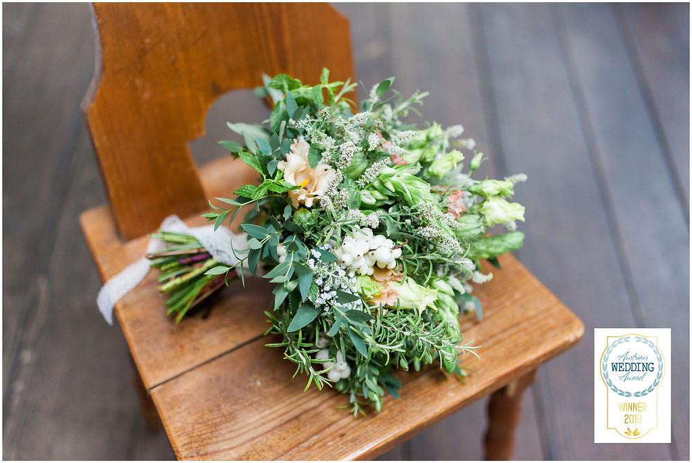 Hochzeitsstrauß von Beate Lohner-Spohn welcher bei dem Wedding Award 2019 mit diesem Foto gewonnen hat