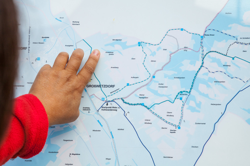 Wandern, Wanderkarte, Weinviertel, Niederösterreich, Wanderung, Wandertipp, Großwetzdorf