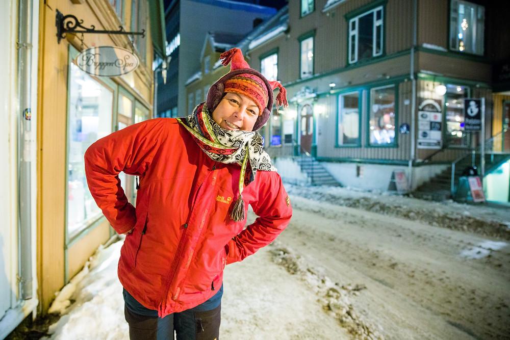 Winterkleidung mit Schichten für die Kälte in Tromsö beim Nordlicht-Fotografieren