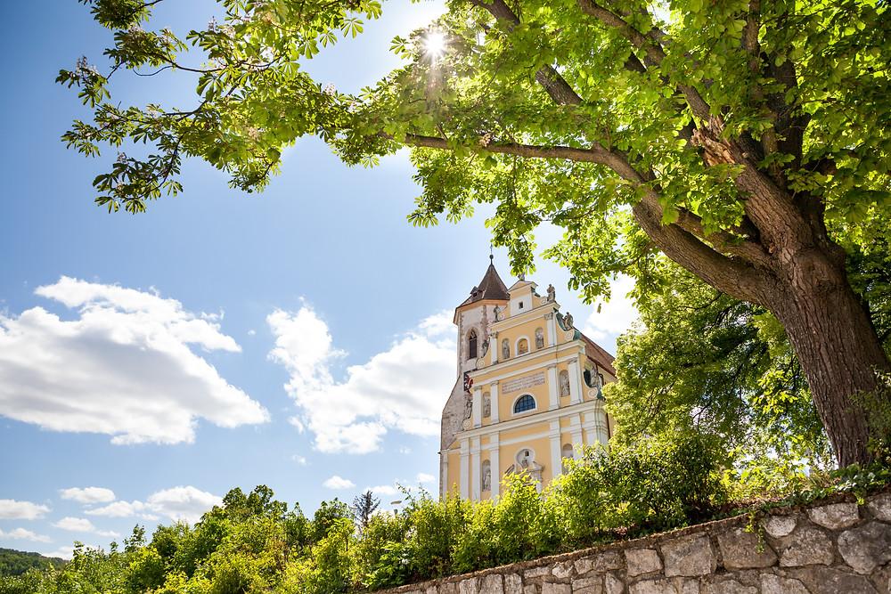 Kirche, Pfarrkirche, Falkenstein, Ruine Falkenstein, Falkenflug, Weinviertel, Niederösterreich, Wandern, Wandertipp, Ausflug