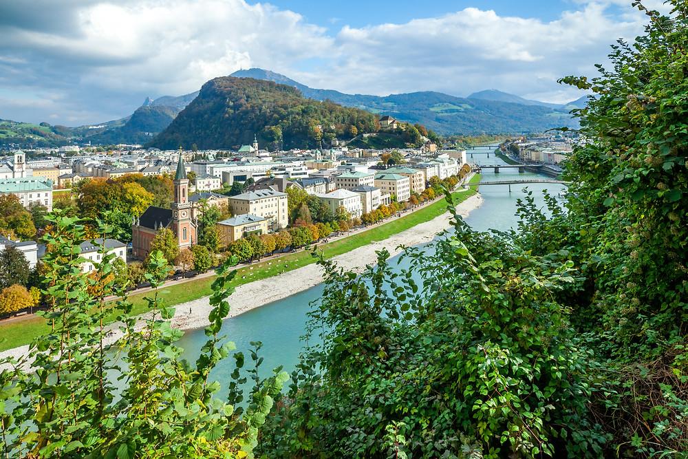 Salzburg, Salzburg Altstadt, Mozartstadt, Kurzurlaub, Stadtwandern, Stadtwanderung, Besichtigung, Sightseeing, Kulturrundgang, Sehenswürdigkeiten, Spaziergang, Salzach,