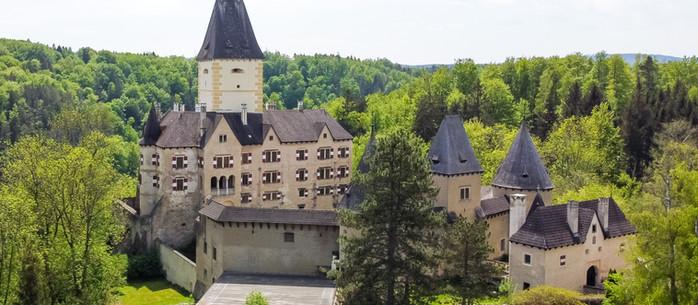 Wandern Waldviertel: Schloss Waldreichs - Schloss Ottenstein - Ottensteiner Stausee Niederösterreich