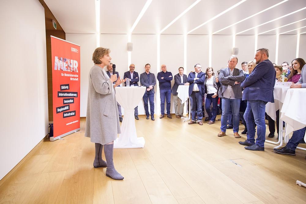 Sonja Zwazl auf dem Neujahrsempfang 2020 in der Wirtschaftskammer Horn