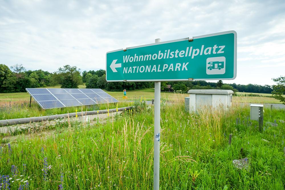 Wohnmobil-Stellplatz, Wohnmobil, Stellplatz, Thayatal, Nationalpark Thayatal, Nationalparkhaus, Niederösterreich, Waldviertel, Österreich, Womo, Alkoven