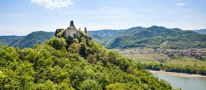 Wandern Loibengraben - Ruine Dürnstein in der Wachau