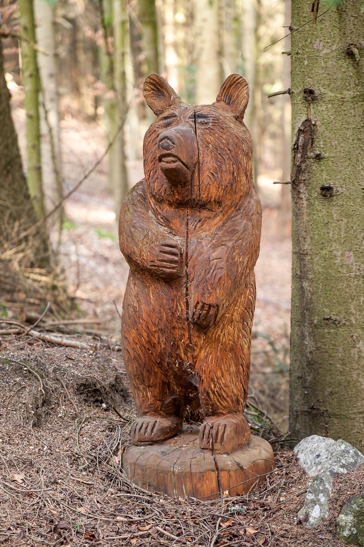Holzschnitzen, Schnitzen, Skulptur, Bär