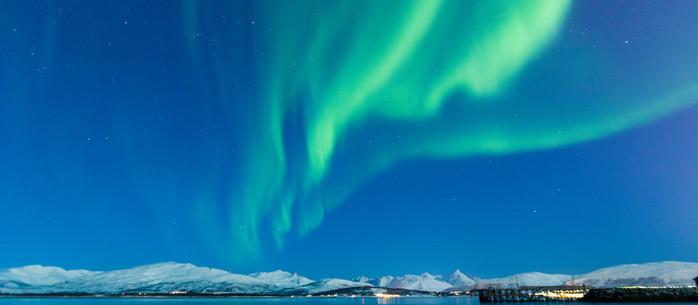 Nordlichter in Telegrafbukta nahe Tromsö