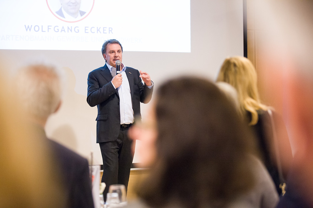 Wolfgang Ecker bei dem Neujahrsempfang 2020 der Wirtschaftskammer Mödling