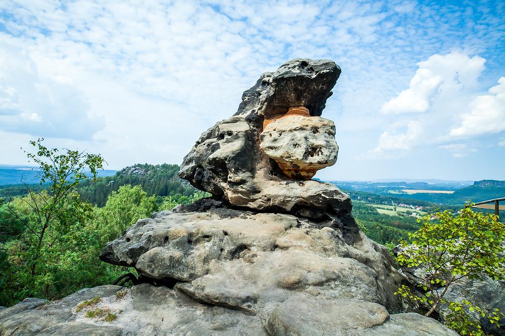 Sächsische Schweiz, Elbsandsteingebirge, Sachsen, Deutschland, Wandern, Wanderung, Wandertipp, Wanderurlaub, Wanderreise, Rundwanderung, Papststein, Gohrisch