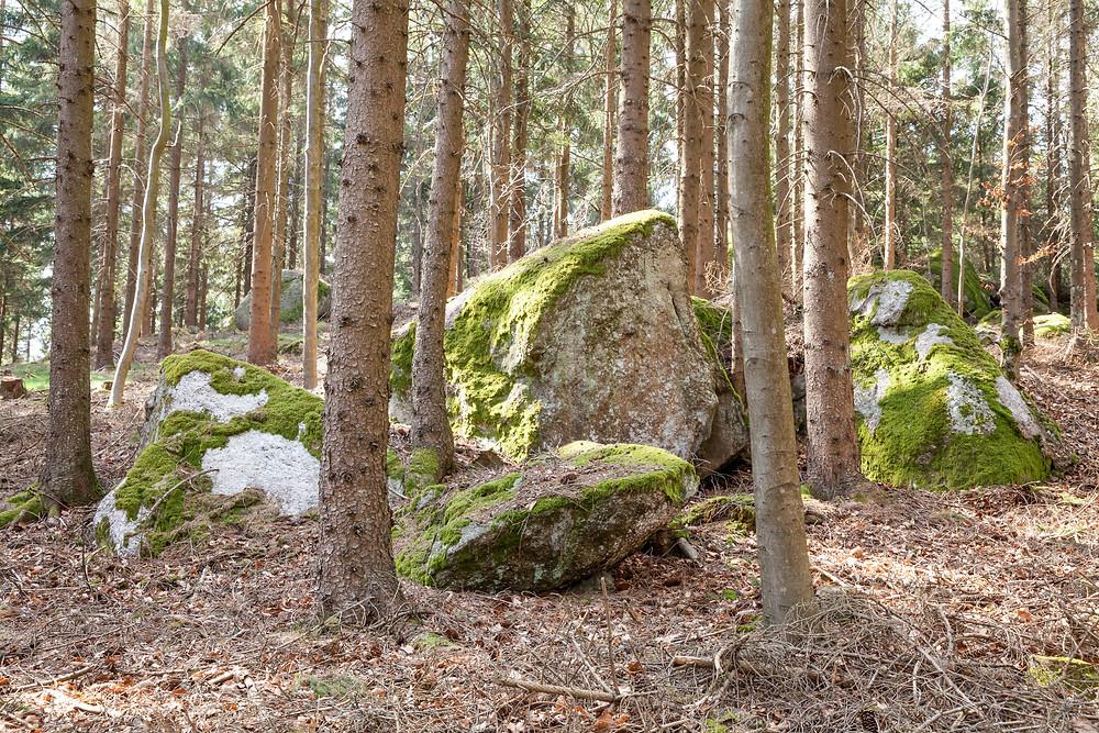 Felsen, Granit, Wackelstein, Waldviertel, Niederösterreich