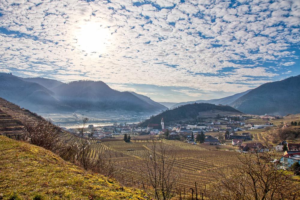 Wanderung, Rotes Tor, Spitz an der Donau, Wachau, Niederösterreich, Wandern, Wanderung, Welterbesteig, Donau, Wolken, Sonne