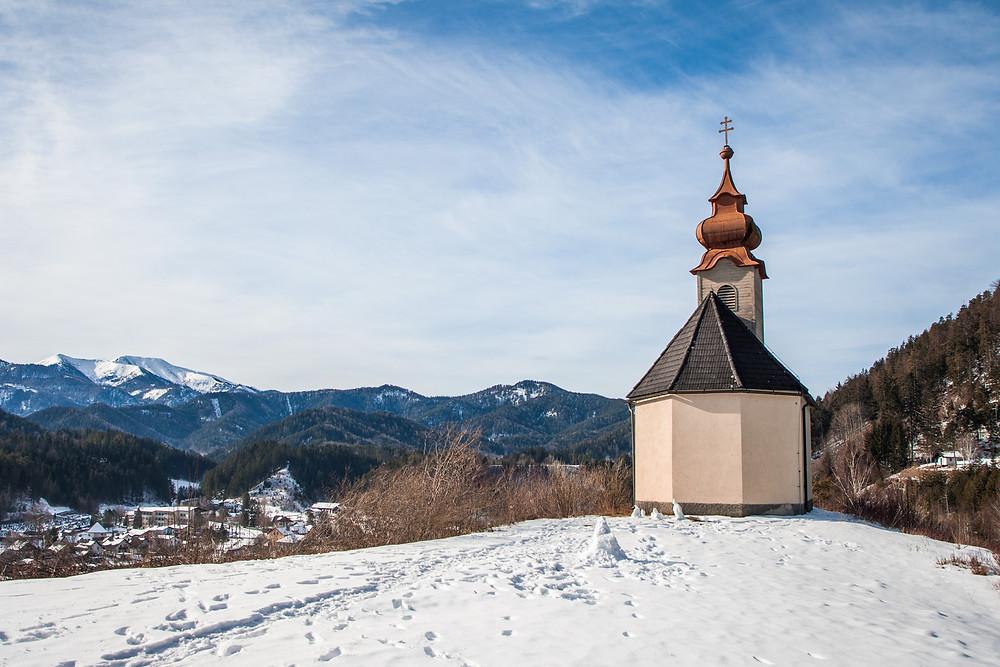 Osterkircherl, Kirche, Zdarskyhütte, St. Aegyd, Voralpen, Niederösterreich, Wancurasteig, Steig, Winterwandern, Wandern, Wanderung