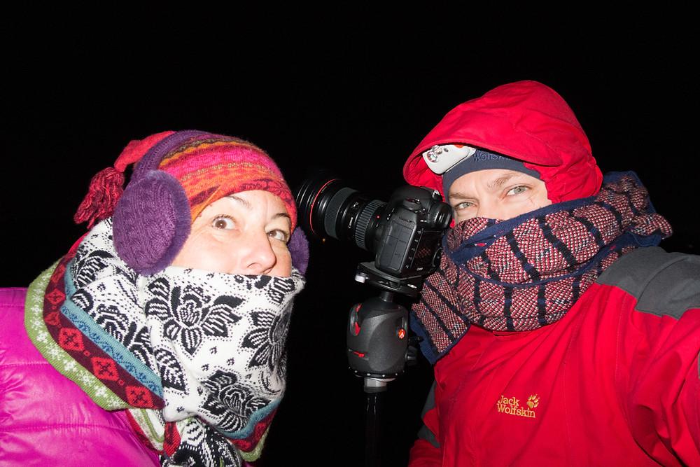 Kleidung für die Polarlicht-Fotografie in Tromsö