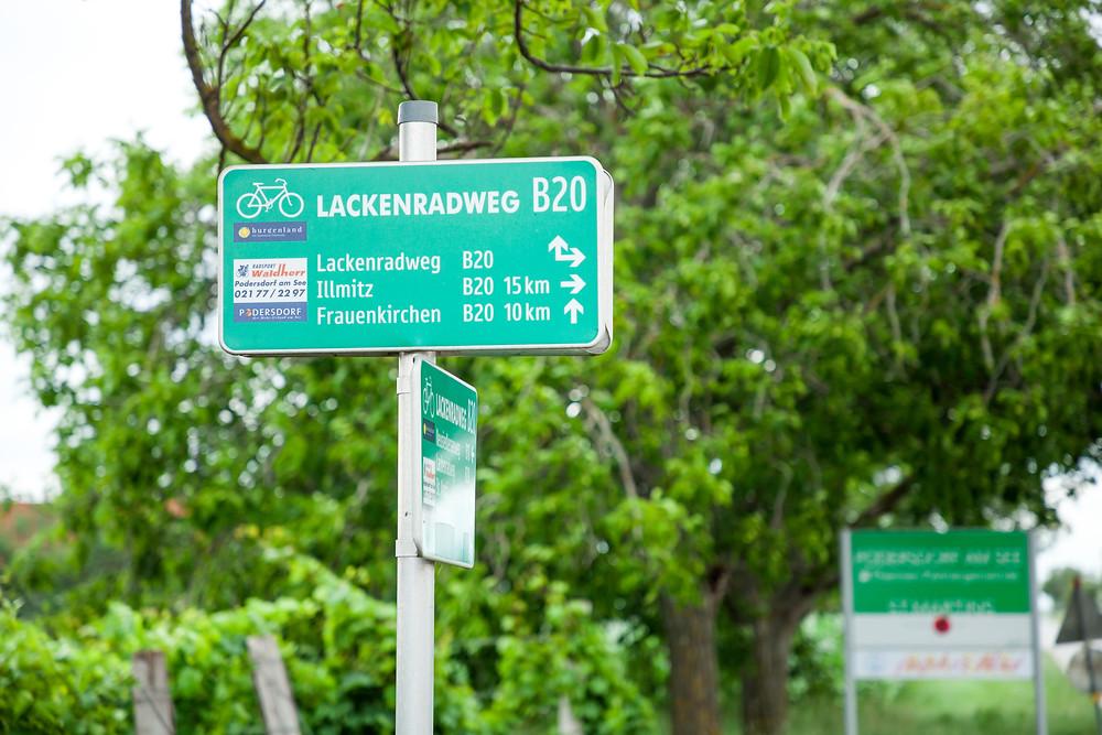 Podersdorf, Lange Lacke, Neusiedler See, Neusiedlersee, Burgenland, Urlaub, Kurzurlaub, Radfahren, Radtour, Radrunde, Radurlaub, Radweg, B20