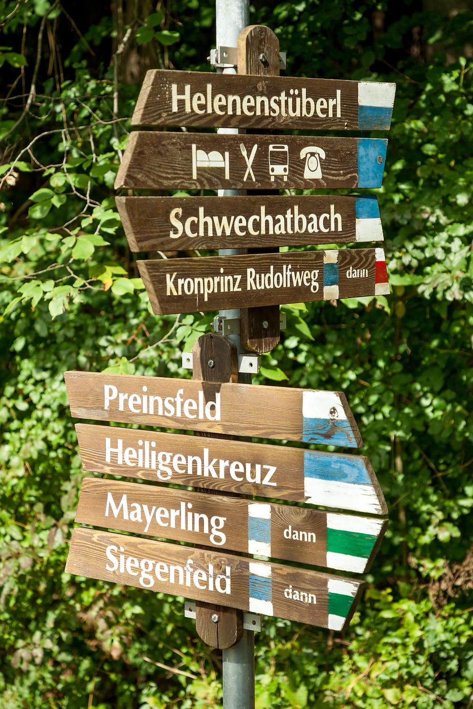 Wegweisern, Wandern, Wanderung, Wienerwald