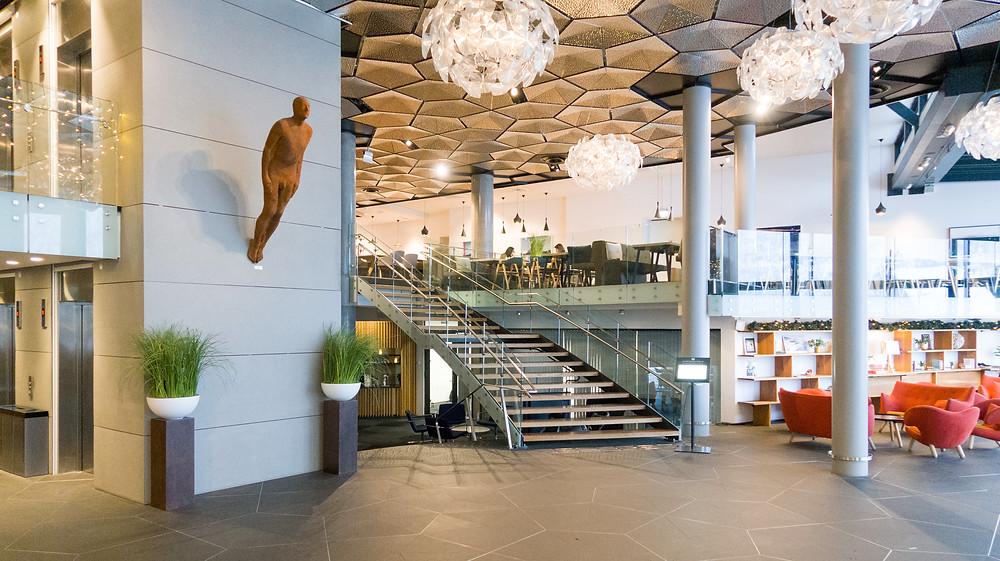 Eingangsbereich im Hotel Clarion the edge in Tromsö Norwegen
