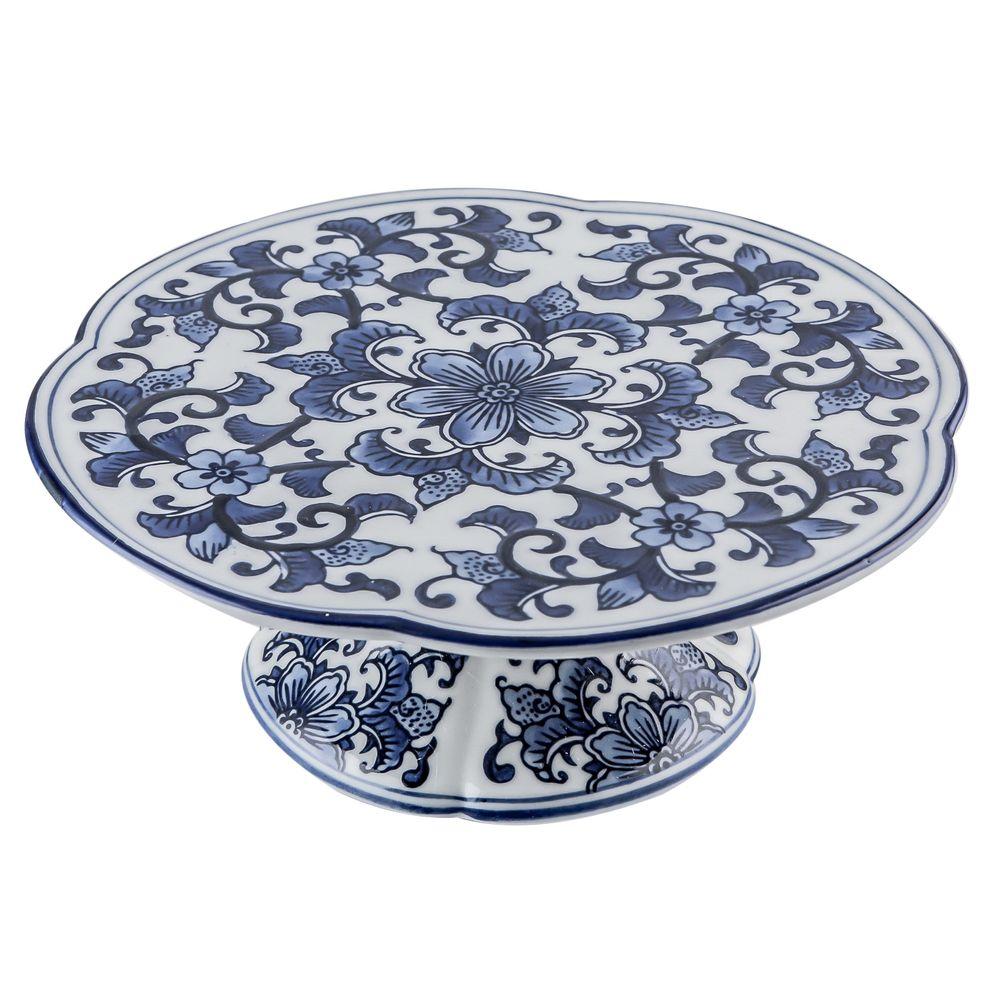 Boleira de Porcelana Azul e Branca