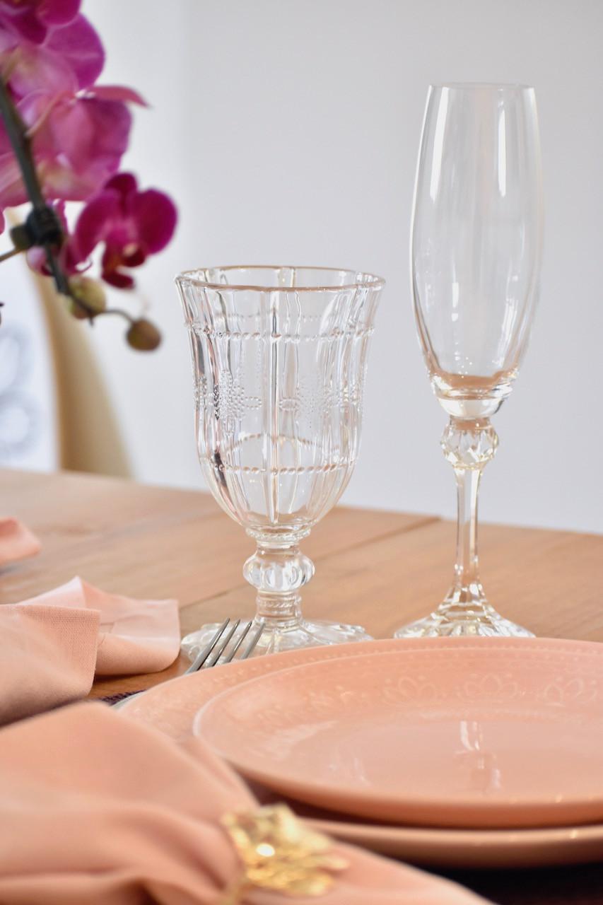 Taça Transparente de Vidro e Taça de Espumante de Cristal Transparente