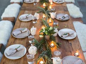 Quer montar uma mesa com clima de inverno?