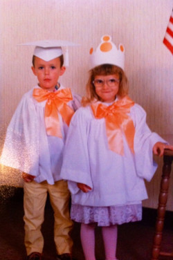 Young Val & her brother Travis