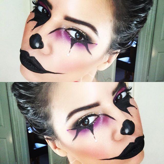 Clown face!🎃_A quick trial 🙈_#halloween #halloweenmakeup #clown _Inspired by _tinakpromua