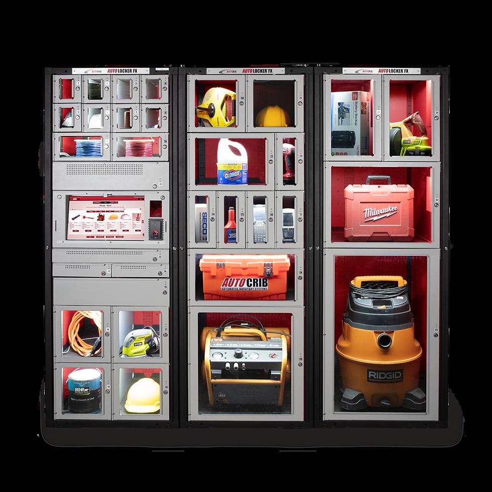 A customizable asset tracking locker system.
